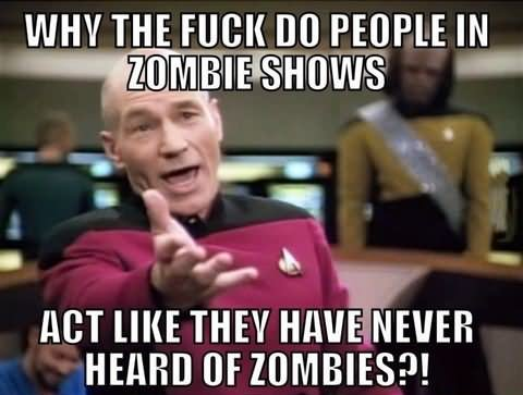 Zombie Meme Why the fuck do people in zombie shows