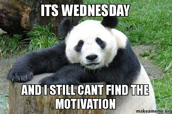 It's Wednesday and i still can't find the motivation Wednesday Meme