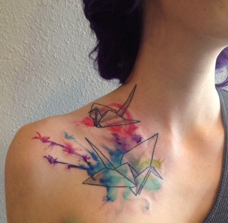 Paper Crane Tattoos