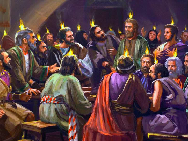 Pentecost Tongues Of Fire The Christian Holiday Of Pentecost Is Celebrated