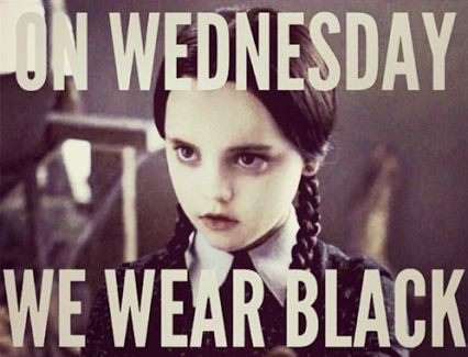 Wednesday Meme On Wednesday we wear black