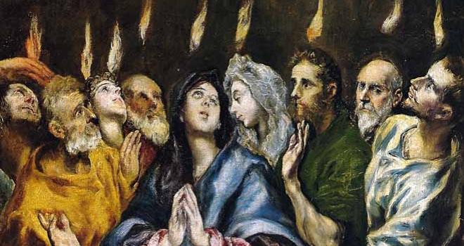 Wonderful Pentecost Greetings painting Message Image