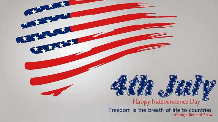 4th July Happy Independence Day USA Greetings Message Wallpaper