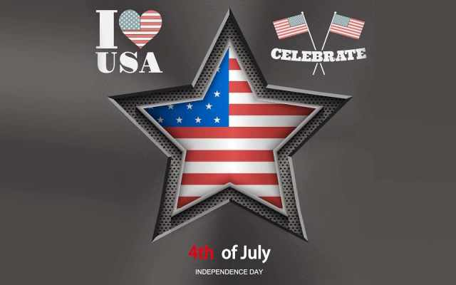 Celebrate 4th Of July Independence Day I Love USA Wishes Wallpaper