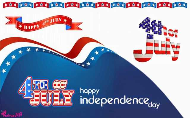 Happy 4th July Wish You Happy Independence Day Beautiful Greetings Card Image