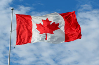 Happy Canada Day Wishes Flag Picture