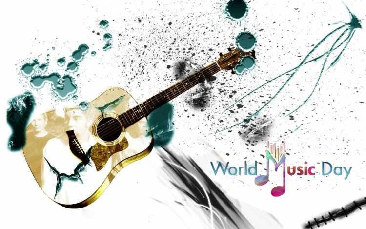 Happy International Music Day Greetings Wallpaper