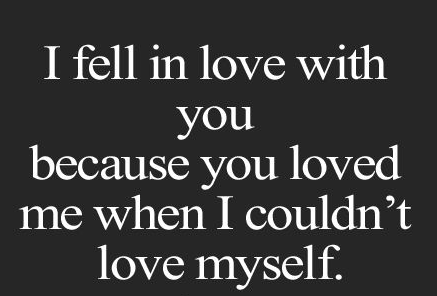 Love Quotes I Feel In Love With You Because You Loved Me