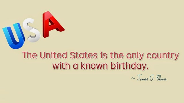 USA Fourth Of July Quotes By James G. Blaine Message Image
