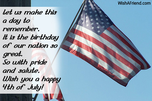 Wish You A Happy 4th Of July Best Wishes Message Quotes Image