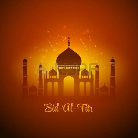 Wonderful Eid al-Fitr Greetings Card Image