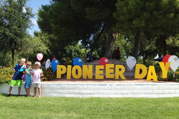 Children Celebrate Pioneer Day Wishes Message Image