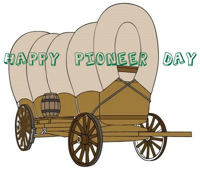 Happy Pioneer Day Card Clipart
