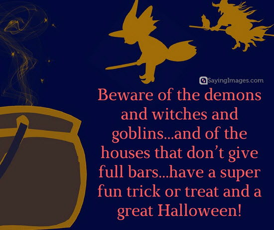Awesome funny halloween quotes