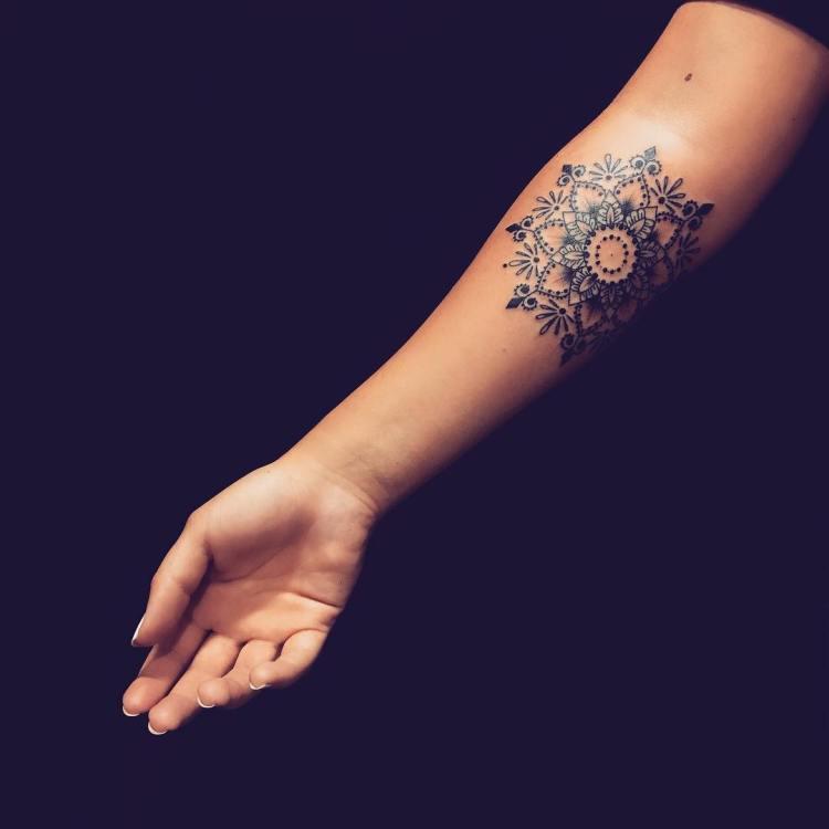 Mind Blowing Mandalal Flower Tattoo Design Made By Tattooer