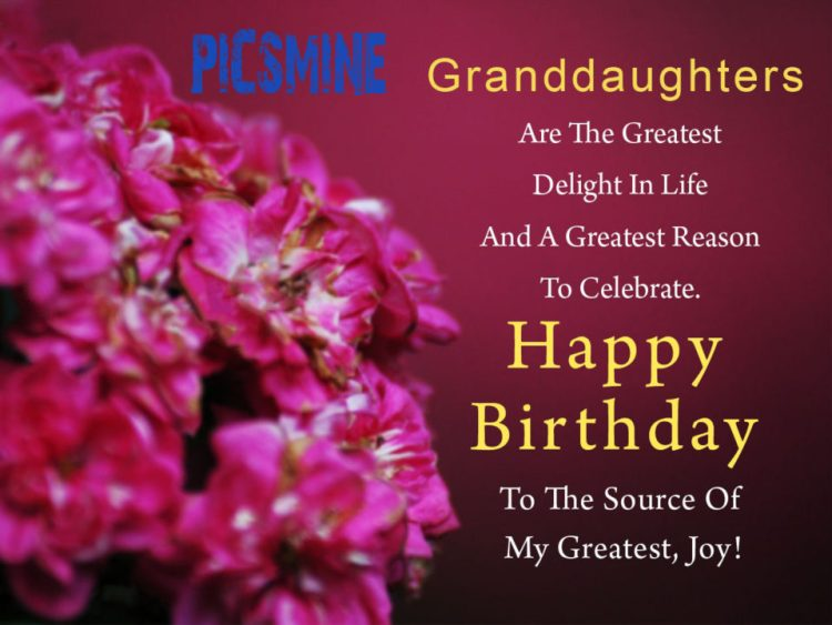 Happy Birthday To My Granddaughter Granddaughters are the greatest