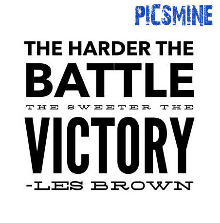 Motivational Quotes For Athletes the harder the battle victory