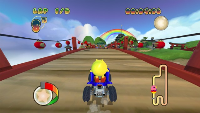 Pac-Man: World Rally looks rather generic but is still a colorful and fun kart racer.