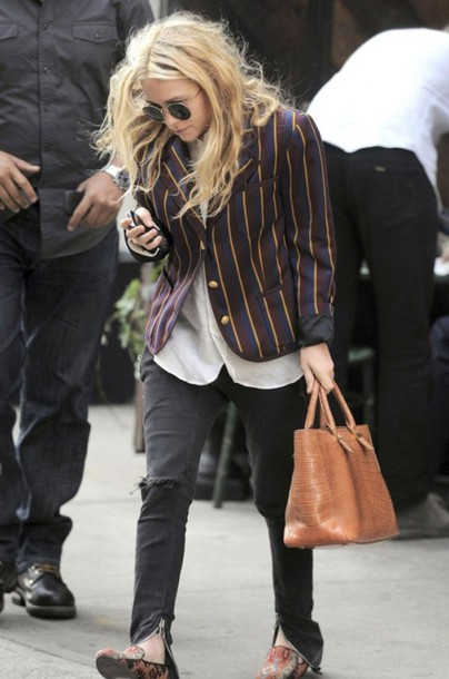 Mary Kate Olsen Stripes Blazer Mary Kate Olsen Olsen