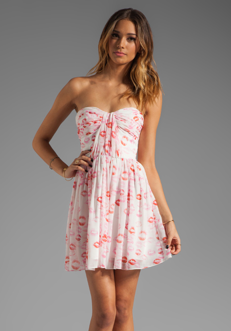 ERIN ERIN FETHERSTON RUNWAY Marianne Dress in Lipstick at Revolve Clothing - Free Shipping!