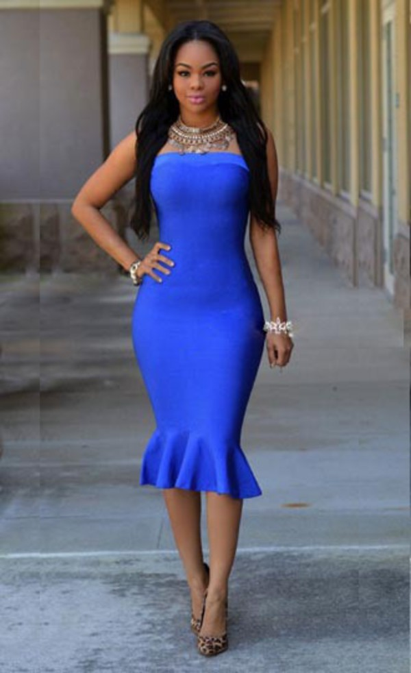 Dress Mermaid Prom Dress Midi Dress Mermaid Midi Dress