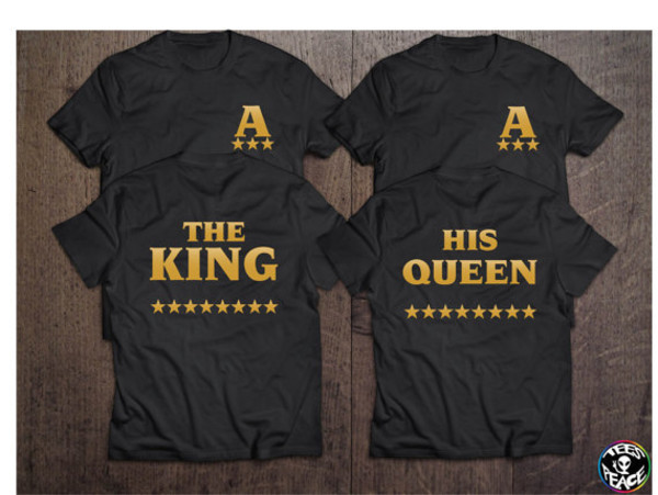Shirt The King His Queen Stars Couples Shirts
