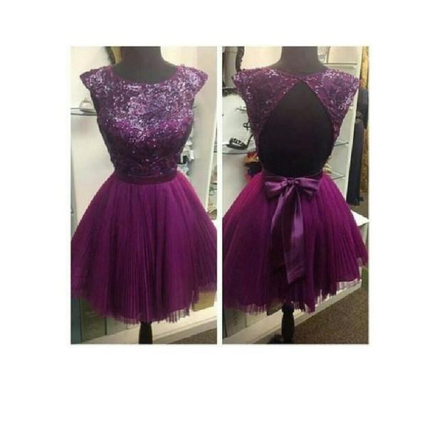 Dress Purple Dress Homecoming Dress Prom Dress Classy