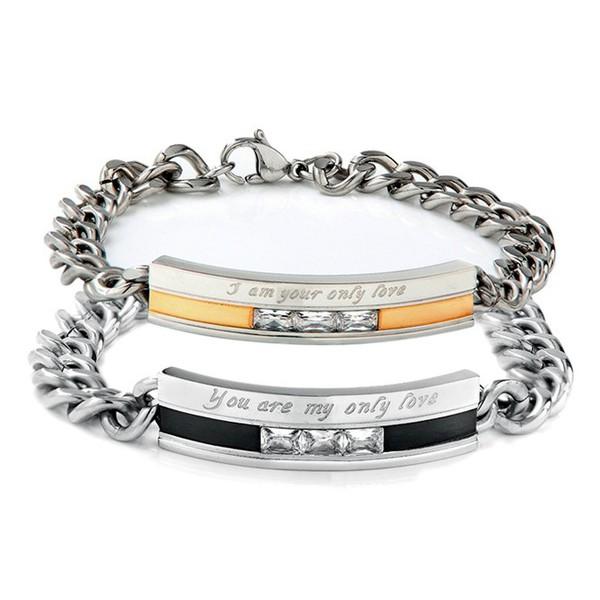 Engraved Friendship Couples Jewlery Gift Bracelet Set