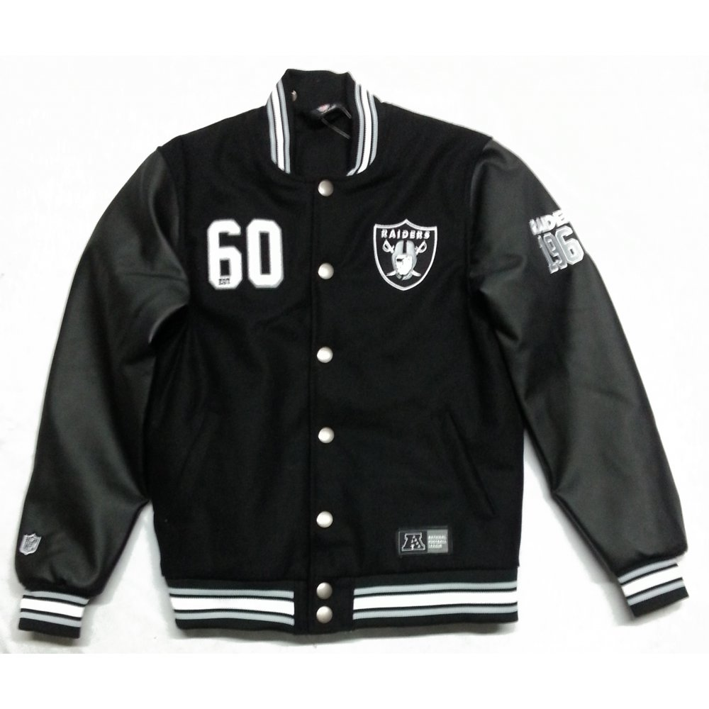 Buy Majestic Dean Letterman Oakland Raiders Jacket Black