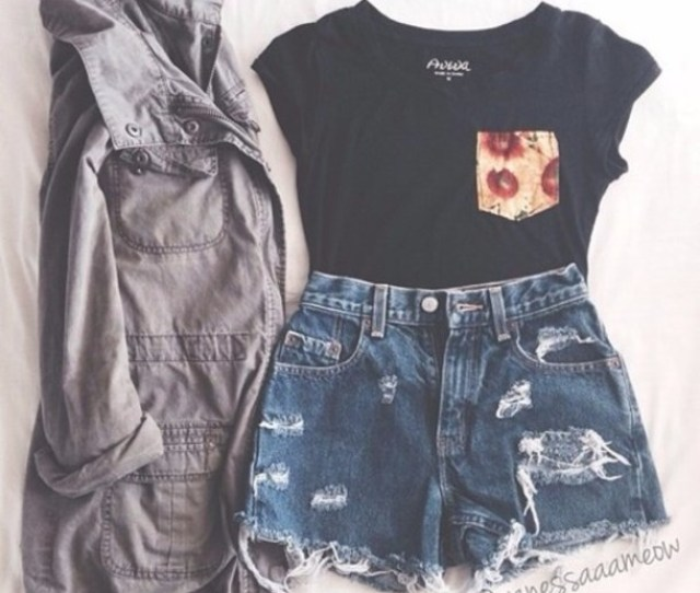 Shirt Jacket Shorts Shoes High Waisted Shorts High Waisted High Waisted Short Coat Cute Outfits Cute