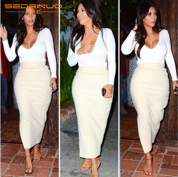 Dress: two-piece, kim kardashian, women sexy club dress - Wheretoget