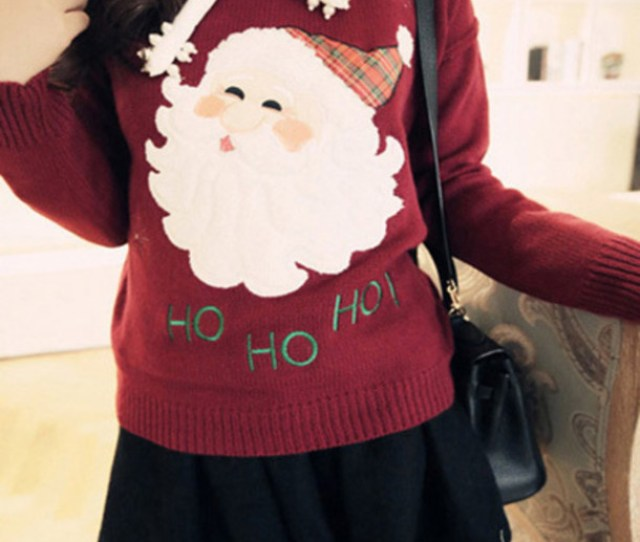 Sweater Christmas Winter Outfits Santa Cute Trendy College Tumblr It Girl Shop