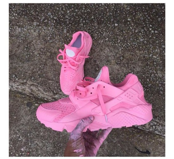 best website 02d79 6569e inexpensive nike huarache light pink all gold 1c1e6 bfbd7