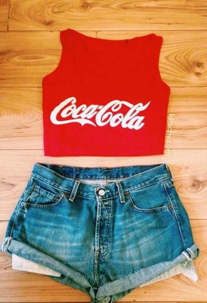 Shorts High Tumblr Denim Waisted