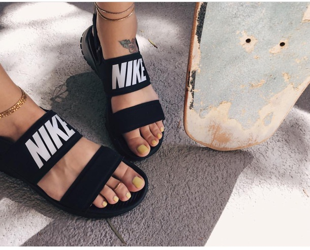 Image result for nike tanjun sandal black