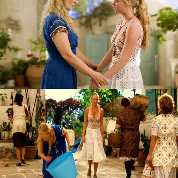 Mamma Mia White Skirt Boho Greek Island Island Style