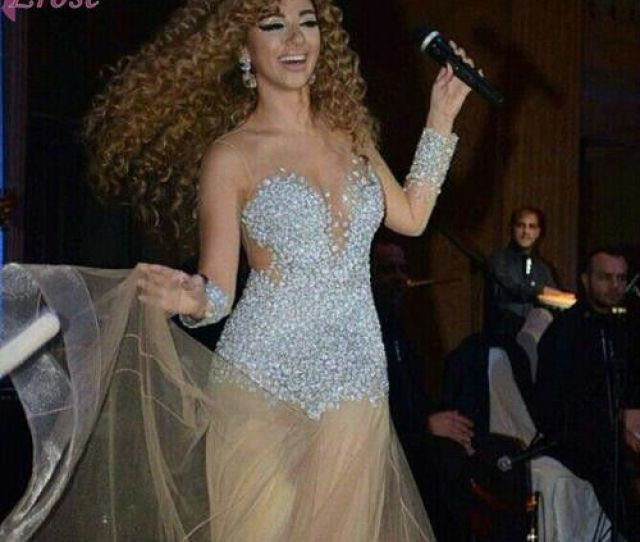 Lm 018 New Arrival Arabia Singer Myriam Fares 2013 See Through Sexy Beaded Long Sleeve Evening