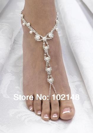 Sexy Rhinestone Barefoot Sandals Foot Braceletbeach Foot