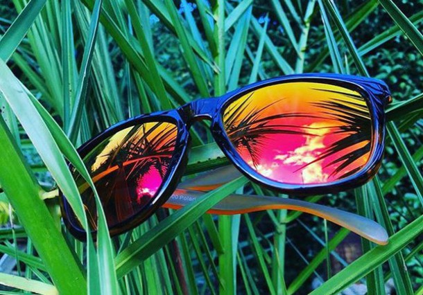 Image result for Mirrored sunglasses for a cool beach party.