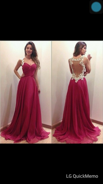 long prom dress  prom dress  backless prom dress  sweetheart     long prom dress  prom dress  backless prom dress  sweetheart neckline  chiffon  dress  wine red  long  open back  love  fashion  dress  graduation dresses