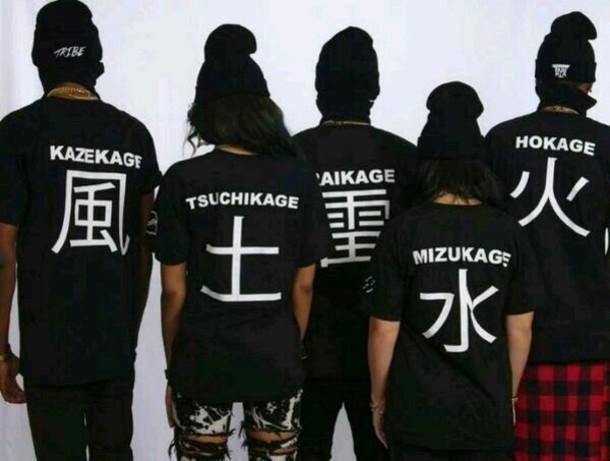 Shorts Black Anime T Shirt Wheretoget