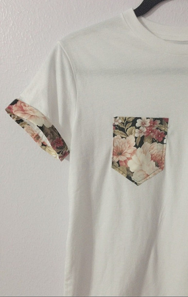 Floral And Black White Blouse