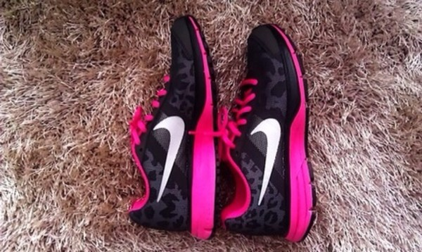sneakers for cheap 07be8 9cca5 ... lunarglide 5v shield black pink leopard Nike Animal Print Synthetic  Athletic Shoes For ...