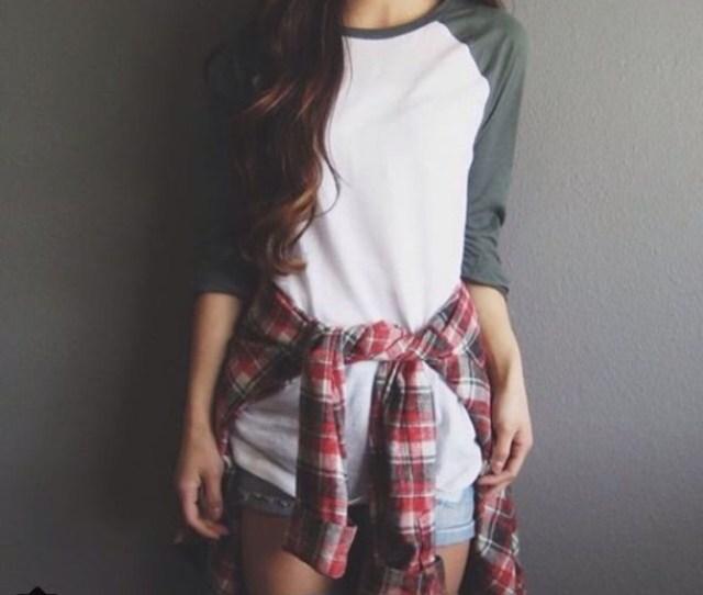 Top White Grey Baseball T Shirt Sleeves Cool Cute Girl Teenagers Sporty Indie Sportswear Jersey