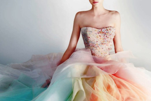 Dress, Rainbow, Beautiful, Party, Prom Dress, Pastel