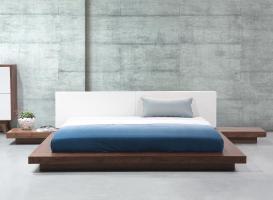 """Massives Designer Bett """"Japan Style"""" 160 / 180 x 200 cm ..."""