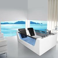 XXL Luxus Whirlpool Badewanne Avignon freistehend mit 22 ...