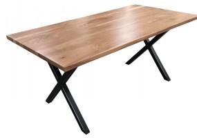 Esstisch Akazie Tablo mit Metallgestell 200x100   Kaufen bei Möbel Lux