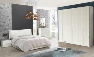 Schlafzimmer Serie Soraja Creme Weiß 4 teilig 180x200 cm ...