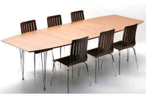 Casa Padrino Designer Konferenztisch Nussbaum / Chrom ...